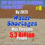 Reason 8: By 2025 5.3 Billion May Face Threat of Water Shortages